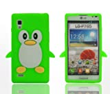 SKS Distribution® Green LG Optimus L9 P760 Silicone Penguin Phone Case / Cover
