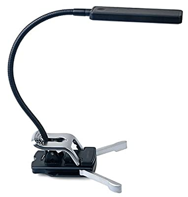 Ivation Multipurpose Gooseneck 7-LED Dimmable Clip Light with Stand