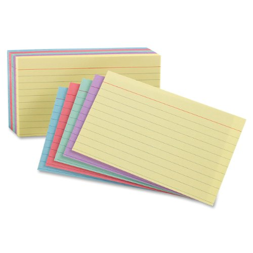 Oxford Index Cards, Assorted Colors, 5