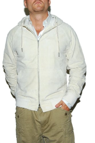 Polo Ralph Lauren Mens Suede Leather Jacket Cream Medium