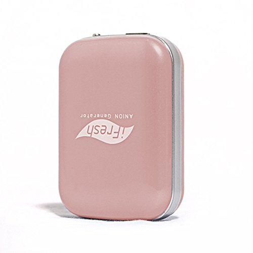 Onairmall® Ifresh Olf-689 The Second Generation Hq Portable Mini Pendant-Ion And Ozone Generator Air Purifier Air Freshener - Pink front-602076