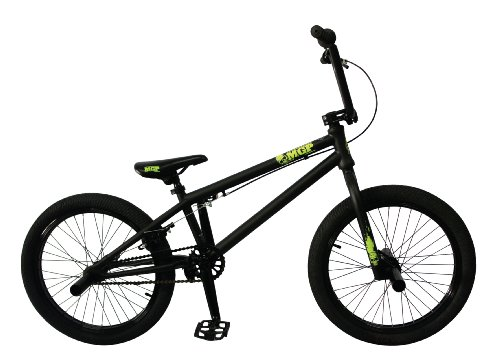 Madd Gear 20-Inch Boost BMX Bike, Black/Green MGP Logo