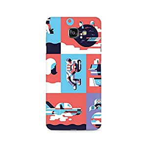 Ebby Abstract Travel Premium Printed Case For Samsung A510 2016 Version