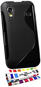 "MUZZANO Coque Souple Ultra-Slim ""Le S"" Premium Noir pour SAMSUNG GALAXY ACE de Qualité Supérieure ORIGINALE - Protection Antichoc ELEGANTE, OPTIMALE et DURABLE au design soigné EXCLUSIF + 1 STYLET et 1 CHIFFON MUZZANO OFFERTS"