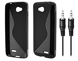 LG L90 Dual D410 Anti-Shock Proof High Quality TPU Material Back Case Cover with Copper Made Aux Cable (Combo Offer Pack of Cable and Back Cover)