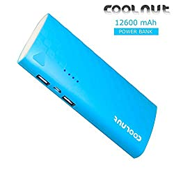 COOLNUT High Capacity Portable Power Bank for Mobile Mi,Gionee,Xiaomi,Samsung ,Sony,Moto,iPhone -12600mAh