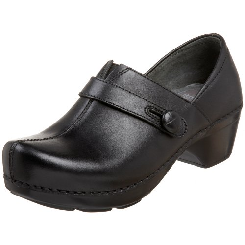 Dansko Women's Solstice Clog,Black Brush off,40 EU / 9.5-10 B(M) US