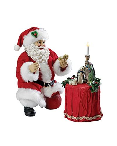 Kurt Adler Set of 2 Santa 8.5 with Nativity