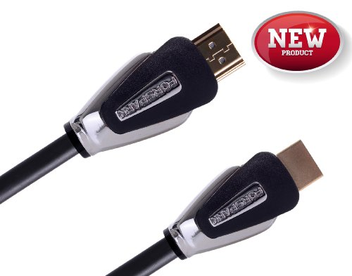 Forspark Aurora Ultra High Speed Series Hdmi Cable With Ethernet 5 Feet (1.5 Meter),Metal Black Case,Hdmi Connector A To A Type, 24Awg, Support Hdmi Ethernet,Audio Return Channel,3D,4K,18.2Gbps, Good For Microsoft Xbox One Console, Cl3 Rated,Flexible For