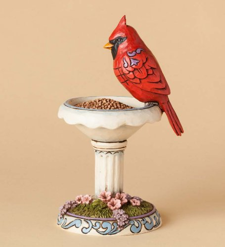 Jim Shore® Cardinal On Bird Feeder Figurine