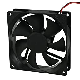 DC 12V 4 Pin Black Plastic PC Cooling Fan 90mm x 90mm x 25mm