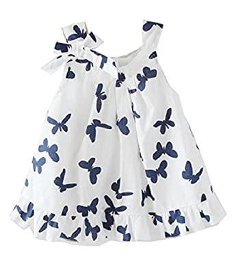 Lovely Baby Girls Kids Toddlers Casual Top Butterfly Bowknot Cotton