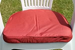 Uk Gardens Terracotta Garden Furniture Chair Cushion Seat Pad Round Back Ideal For Plastic