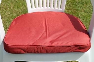 UK-Gardens Terracotta Garten Möbel stuhl Polsterung Sitz Pad Rander Back - Ideal für Plastik Garten stuhl - Wechselbarer Bezug - Nutzung in Haus oder Garten