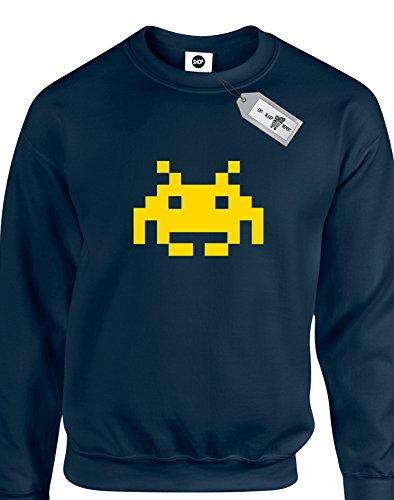Space Invader da adulto unisex Felpe. Consegna gratuita inclusi. Navy blue XL
