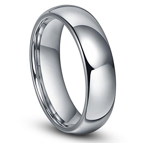 6MM Tungsten Men's Plain Dome Wedding Band Ring Sz 10.0