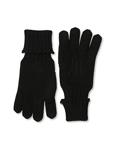 Jil Sander Men's Knit Gloves, Black