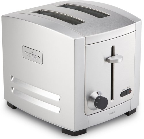 All-Clad TJ802D Stainless Steel 2-Slice Toaster with 6 Browning Control Settings / Frozen Bread Setting / Bagel Function / Kitchen Electric, Silver