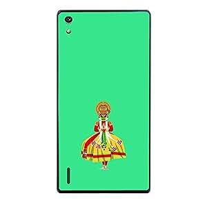 Skin4gadgets Indian Classical Art - Kathakali, Color - Spring Grey Phone Skin for HONOR P7