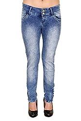 Zrestha Light Blue Color Slim Fit Denim Jeans For Women