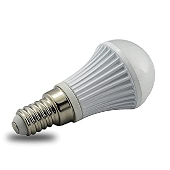 LEDAMP E-CORE 5W LED電球 ミニクリプトン形(口金E17&E14) ホワイト  グレー灯体  電球色 昼白色ミニ電球(E14 ホワイト 電球色)