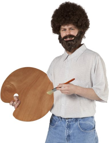 Caucasian Fro Wig and Beard