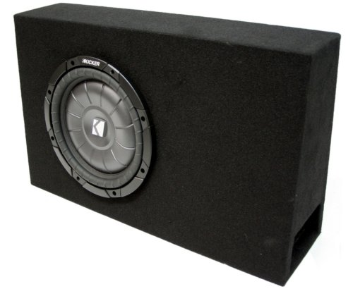 "Asc Package Single 12"" Kicker Sub Box Regular Cab Truck Subwoofer Ported Enclosure Cvt12 800 Watts Peak"