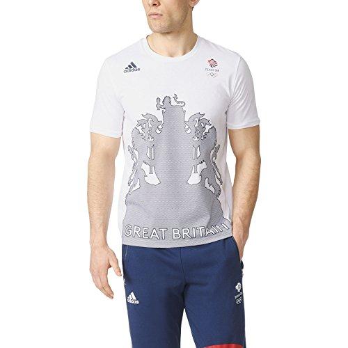 adidas-mens-gents-team-gb-village-t-shirt-tee-top-mesh-crest-white-indigo-m