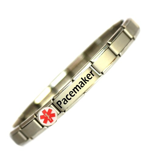 Pacemaker Medical ID Alert Bracelet - One size fits all.- Totally Adjustable - JSC Jewellery THE Medical ID Charm Bracelet Specialists.