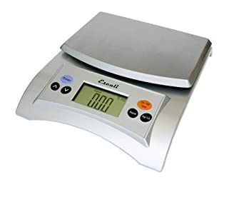 Escali A115S Aqua Digital Scale Liquid Measuring Scale 11 Lb / 5 Kg, Silver Grey