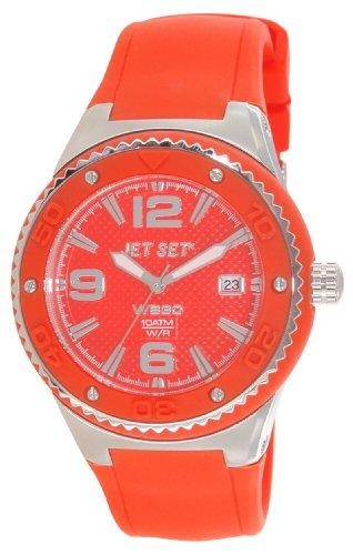 Jet Set J53454-969 - Reloj analógico de cuarzo para mujer, correa de caucho color naranja