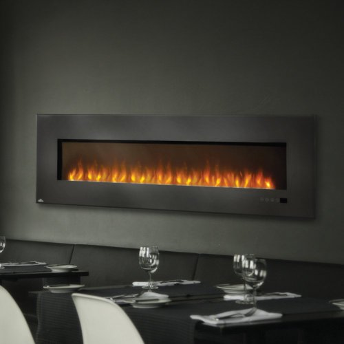 """Napoleon Efl72H 72"""" Electric Fireplace Insert With Glass"""