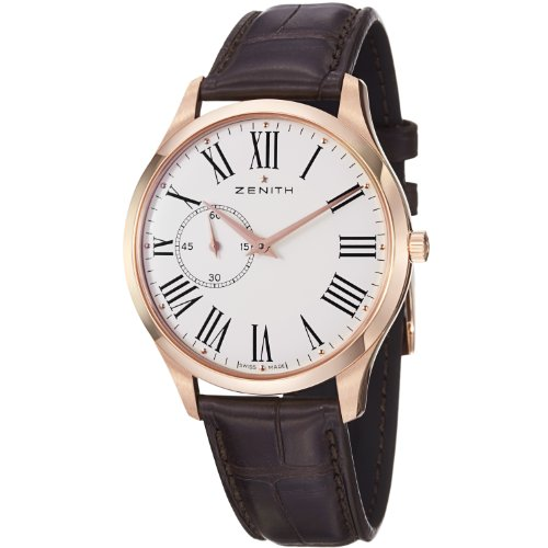 Zenith Class Elite Heritage Ultra Thin Mens Rose Gold Watch 18.2010.681/11.C498