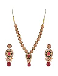 Ganapathy Gems Gold Plated With Kundan Work Necklace Set