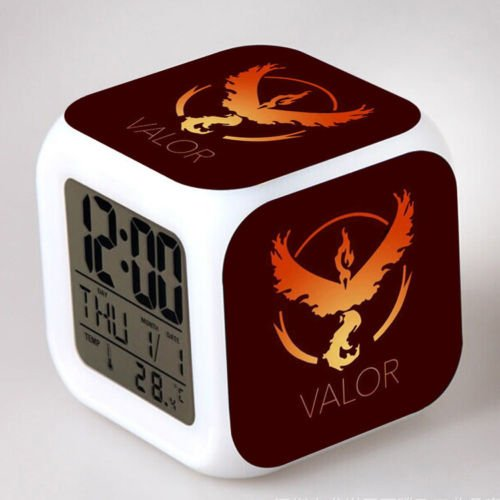 Pokemon Go Digital Alarm LED Clock Light Backlight Time Calendar Thermometer (Fire Red Gameboy Advanced compare prices)