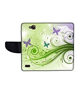 KolorEdge Printed Flip Cover For Huawei Honor Holly Multicolor - (50KeMLogo11506HonorHolly)