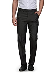 Ausy Black Mens Trousers