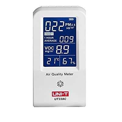 UNI-T Formaldehyde Monitor Detector/Humidity Moisture Meter /Pm2.5 Detector Haze Dust VOC Tester /Air Quality Meter Sensor Pm2.5 Detector