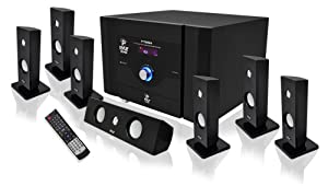 Pyle PT798SBA 7.1 Channel Home Theater System with Satellite Speakers, Center Channel, Subwoofer and Bluetooth from Pyle