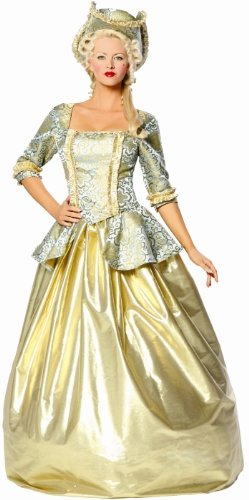 Sexy Adult 1700s Marie Antoinette Outfit Green Gold Foil Long Elegant Dress French Womens Costume