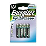 Energizer Battery Rechargeable Advanced NiMH Capacity 1000 mAh LR03 1.2V AAA Ref 627948 [Pack of 4]by Wilkinson Sword