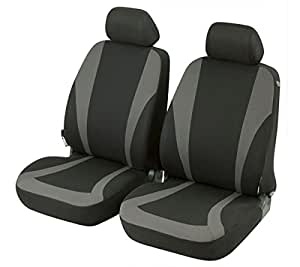 car seat covers protective covers front seat set volvo c30 3 trg black grey. Black Bedroom Furniture Sets. Home Design Ideas