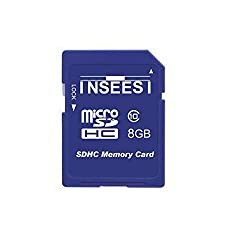 Inseesi SD Card 8GB Class 10 High Speed up 10M/s Flash Memory Card For Canon Nikon Digital SLR Camera Camcorder DV