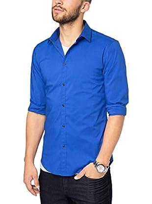 ESPRIT Collection Camisa Hombre (Azul)