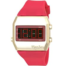 buy Henley Glamour Ladies Led Hot Pink Watch