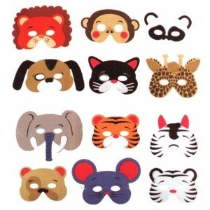 Brand New / Sealed Package 12 Assorted Foam Animal Masks For Birthday Party Favors Dress-Up Costume Jouets, Jeux, Enfant, Peu, Nourrisson