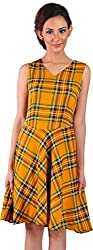 Mabyn Women's A-Line Dress (SSSSD14 _S, Yellow, S)