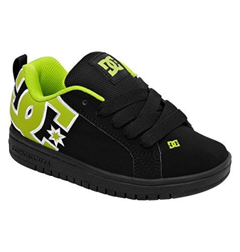 Dc Court Graffik Skate Sneaker (Toddler/Little Kid/Big Kid),Black/Black/Battleship,12 M Us Little Kid