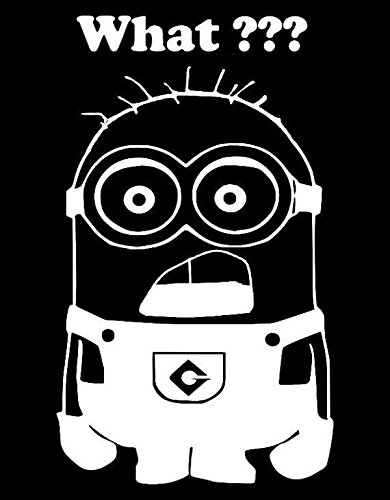 Minions What??? Vinyl Car/Laptop/Window/Wall Decal (Car Window Decals Minion compare prices)