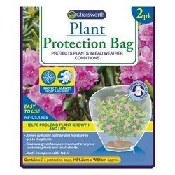 Chatsworth 2 Pack Of Plant Protection Bags / Protection Against Wind And Frost